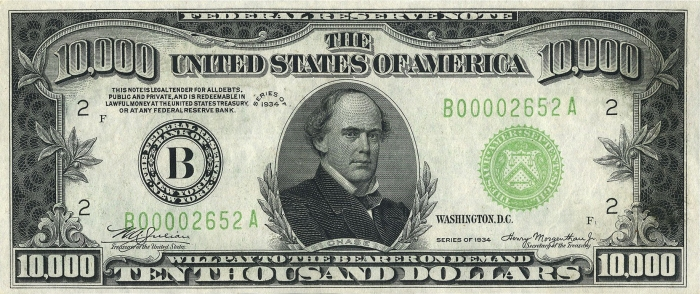 10000_USD_note;_series_of_1934;_obverse
